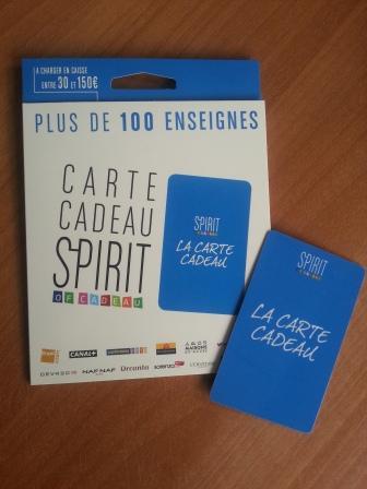 Spirit of cadeau - Carte cadeau spirit enseigne ...