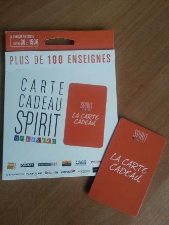 Spirit of cadeau - Spirit carte cadeau ...